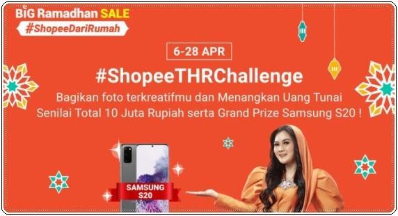 Shopee Thr Challenge Bagikan Foto Kreatifmu Menangkan Samsung